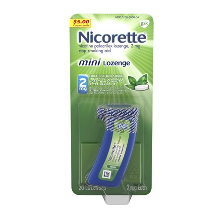 Nicorette mini Nicotine Lozenge, Stop Smoking Aid, 2 mg, Mint Flavor, 20 (Best Quit Smoking Aid)