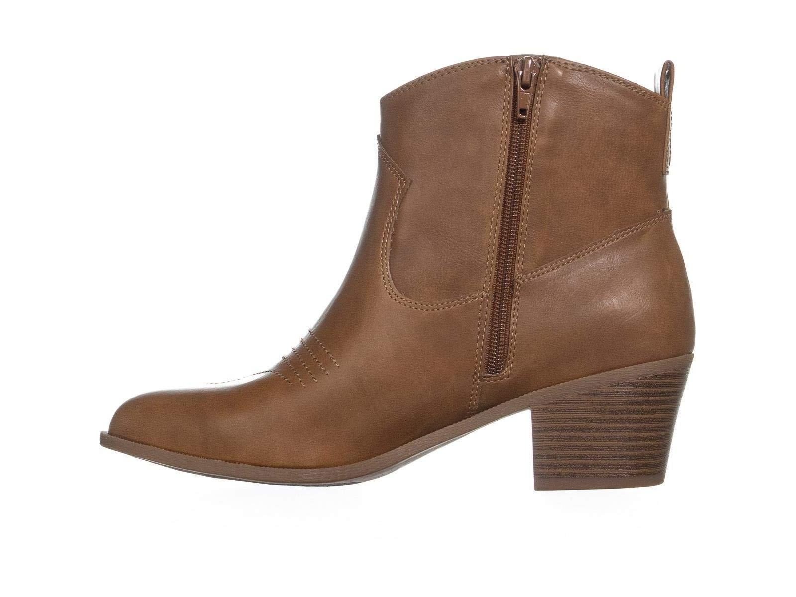 Size 9.5 Womens Mandyy Closed Toe Ankle Cowboy Boots Coffee Style /& Co