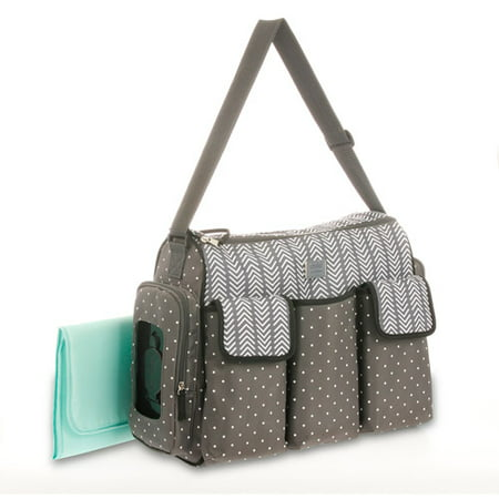 Child of Mine by Carter's Places and Spaces 3 Pocket Duffle Diaper Bag