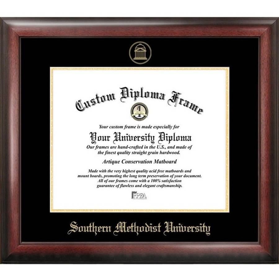 "Southern Methodist University 8.5"" x 11"" Gold Embossed Diploma Frame"