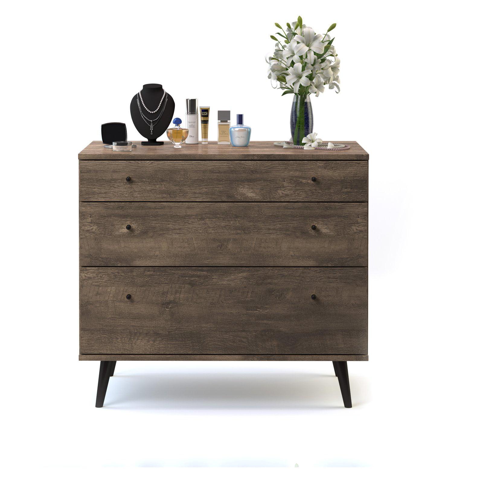 Midtown Concept Kansas Mid-Century 3 Drawer Dresser