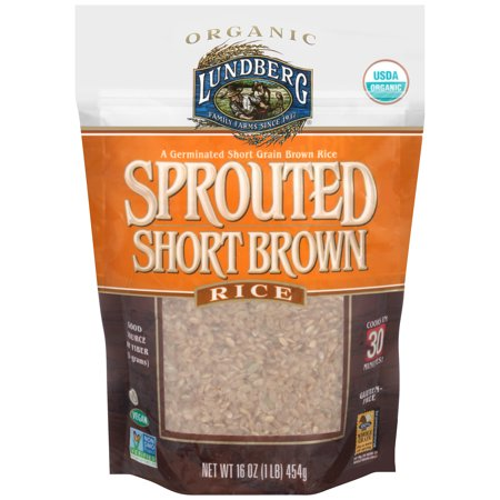Lundberg Family Farms Organic Sprouted Short Brown Rice 16