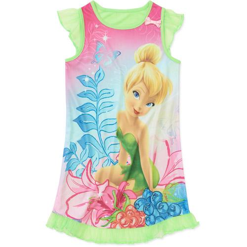 Disney Tinkerbell Girls Jersey Nightgown