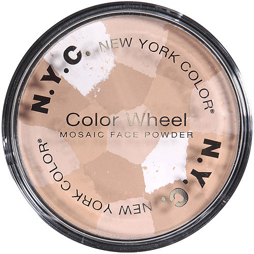 NYC New York Color Color Wheel Mosaic Face Powder, 722A Translucent Highlighter Glow, 0.32 oz