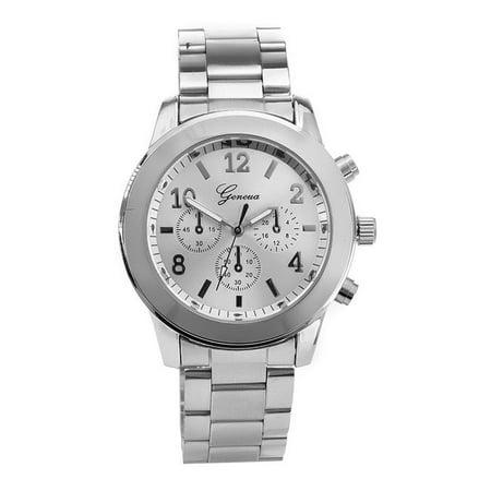 Ladies College Logo Quartz Watches - Fashion Ladies Women Girl Unisex Geneva Stainless Steel Quartz Wrist Watch
