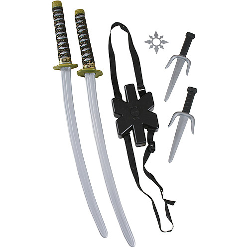 Ninja Double Sword Set Halloween Accessory
