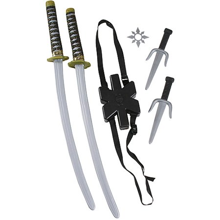 Ninja Double Sword Set Child Halloween Costume Accessory](Top Scary Halloween Costumes 2017)