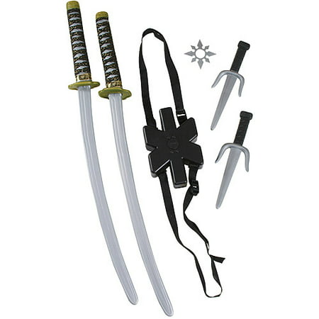 Ninja Double Sword Set Child Halloween Costume Accessory - Bassnectar Halloween 2017 Full Set