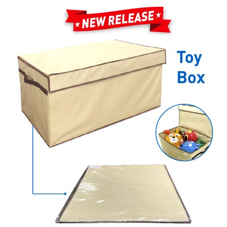"Giant Toy Box Folding Toy Trunk Organizer, Toy Chest Collapsible Storage Bin, Great for Nursery or any Room with Toy Box Lid and Side Handles - 30"" wide x 16"" deep x 15"" tall"