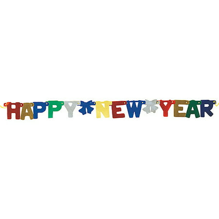 jointed happy new year banner