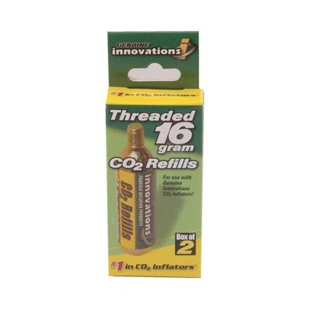 Genuine Innovations 16 Gram Threaded CO2 Cartridge - 6 Pack