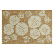 Liora Manne Frontporch Natural Shell Toss Indoor/Outdoor Area Rug