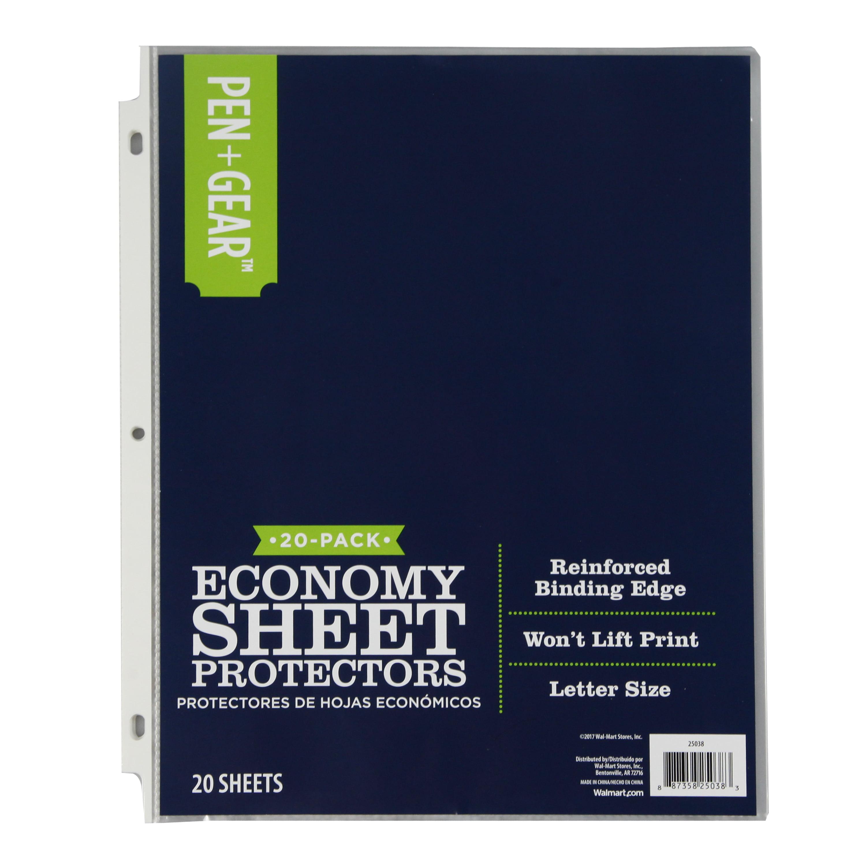 Pen + Gear 20ct Sheet Protector - Walmart.com