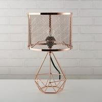 Urban Shop Perforated Rose Gold Geo Lamp