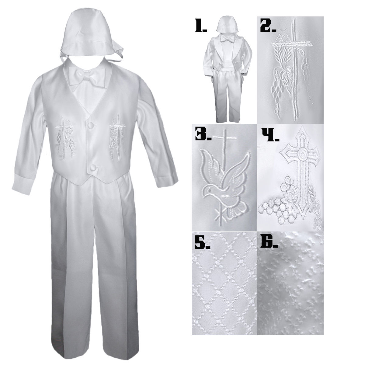 Baby Boy Communion Christening Baptism Outfit Tuxedo Suit size XS SM L XL 0-24M
