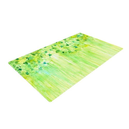 East Urban Home Rosie Brown April Showers Lime Green Area Rug
