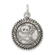 925 Sterling Silver Antiqued Panda Bear Pendant Fine Jewelry Ideal Gifts For Women Gift Set From Heart