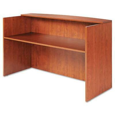 Alera Valencia Series Reception Desk w/Counter, 71w x 35 1/2d x 42 1/2h, Cherry Valencia Series Transaction Counter
