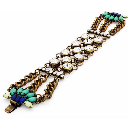 NEXTE Jewelry  Antique Goldtone Art Deco Two-in-One Fashion Bracelet