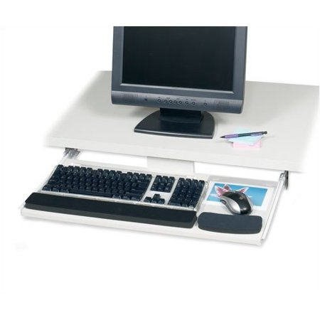 Under Desk Keyboard Tray Walmart Safco Products Company Wood Keyboard Mouse Drawer