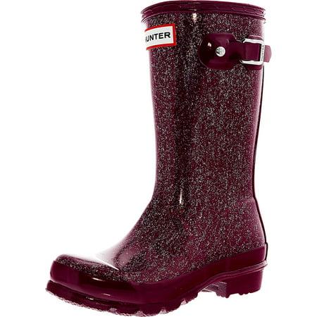 4abf0822fa63 Hunter - Hunter Original Kids Glitter Finish Bright Violet Mid-Calf Rubber  Rain Boot - 12M - Walmart.com