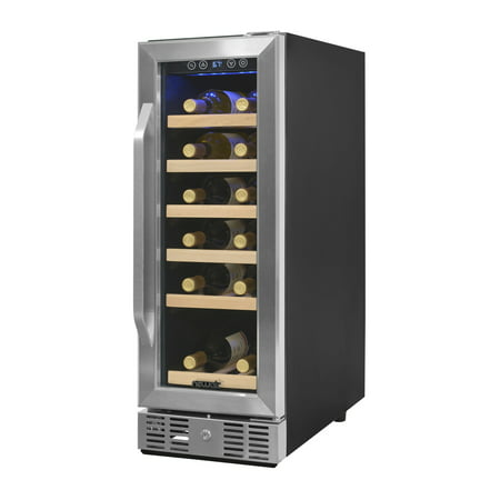 NewAir Compact 19-Bottle Wine Refrigerator, Stainless Steel