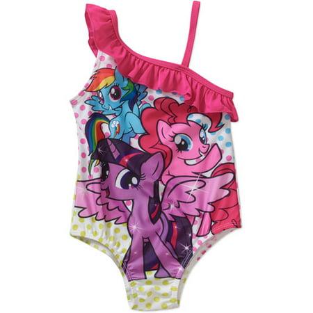 4afa86cc17e19 My Little Pony - My Little Pony Toddler Girl One Piece Swimsuit -  Walmart.com