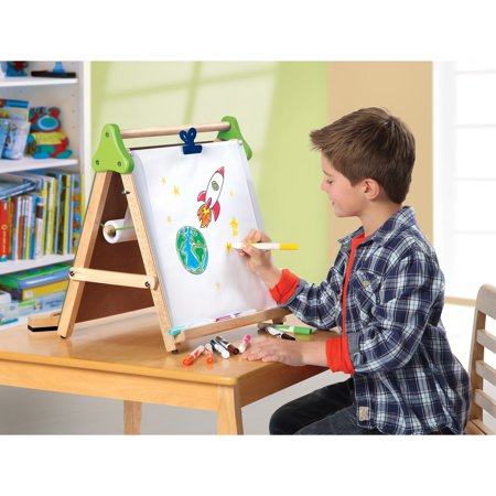 discovery kids wooden 3 in 1 tabletop easel walmart com