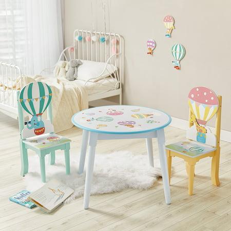 Fantasy Fields Hot Air Balloon Set of 2 Kids Wooden Chairs ()
