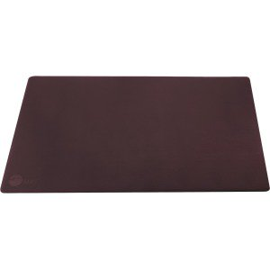 SIIG Large Artificial Leather Smooth Desk Mat Protector - Dark Brown ()