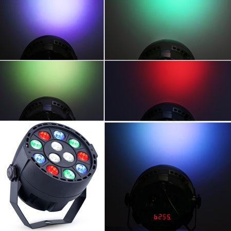 Dmx 512 Lighting (Par Uplights Party 12 Led Stage DJ Lighting with Remote Control RGBW DMX512 Mixing Color Washing Can 8CH for Wedding, Birthday, Event)