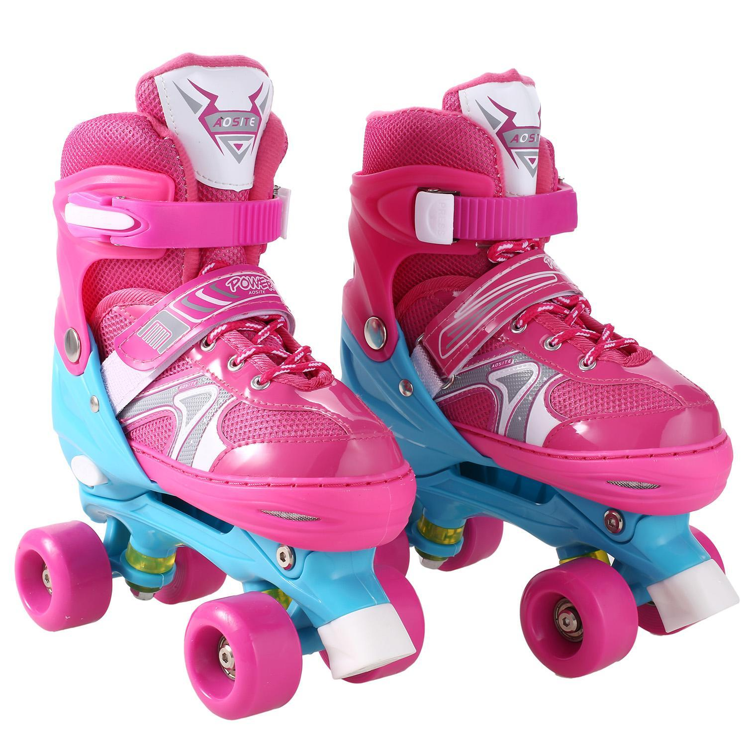 Kimimart Adjustable Kids Roller Skates PVC Wheel Triple Lock Mesh Breathable Rollerblades For Beginners/Toddlers/Children/Boys/Girls