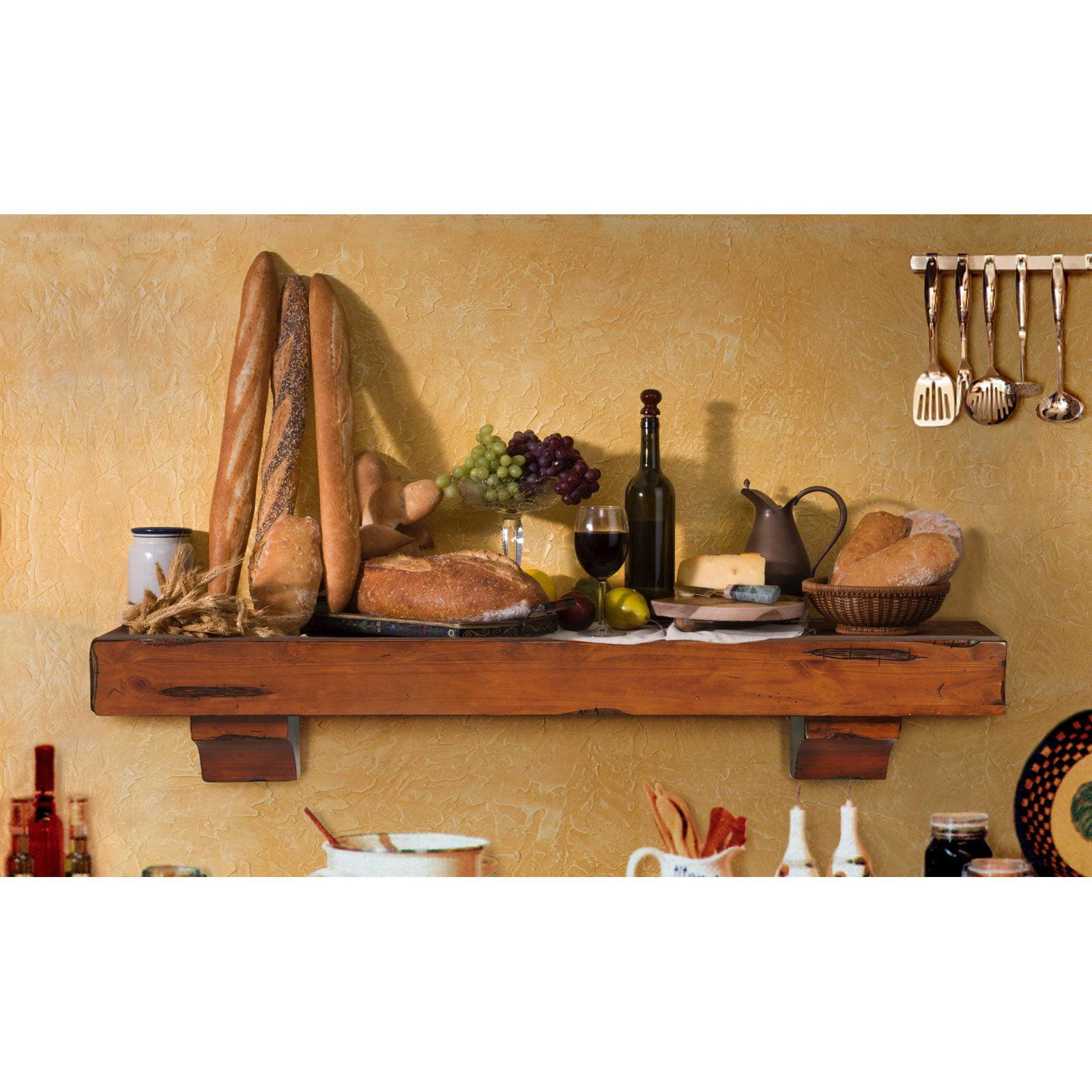 Pearl Mantels Shenandoah Traditional Fireplace Mantel Shelf ...