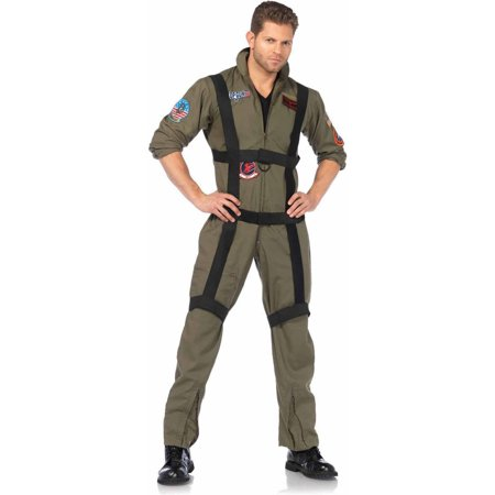 Leg Avenue 3-Piece Top Gun Paratrooper Adult Halloween Costume - Halloween Tommy Gun