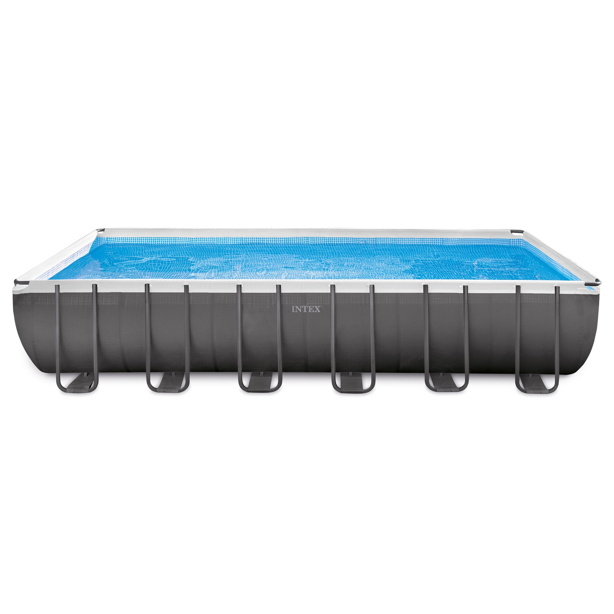 Intex 24 x 12 x 4.3 Foot Ultra Frame Pool Set with Accessories and Cleaning Kit by