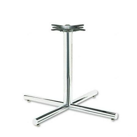 Single Column Steel Base  36w x 36d x 27-7/8h  Chrome