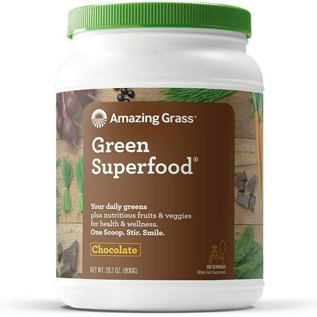 Amazing Grass Green Superfood Powder, Chocolate, 100 - Active Greens Chocolate