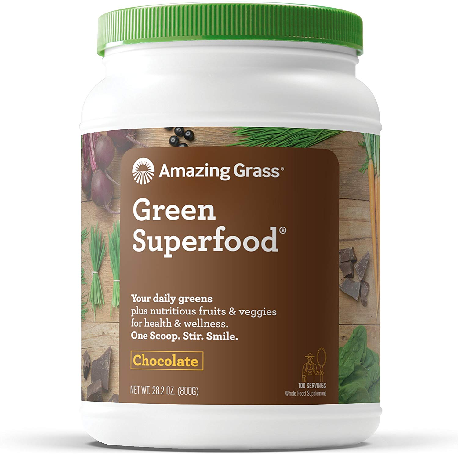 Amazing Grass Green Superfood Powder, Chocolate, 100 Servings