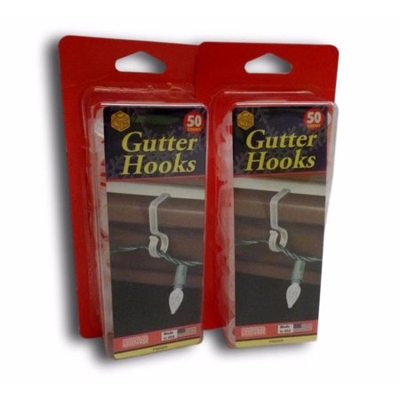 gutter hooks clips for christmas lights and decorations 50 ct clear lot of 2
