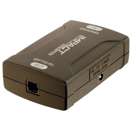 - C2G Coaxial to TOSLINK Optical Digital Audio Converter