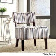 TRIBECCA HOME Elko Print Armless Curved Back Accent Chair Elko Stripe