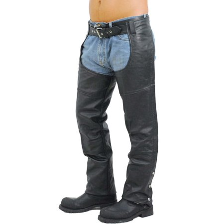 Extra Heavy Classic Biker Leather Chaps - Unisex  Limited Offer! - Mens Classic Chaps