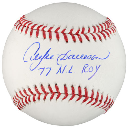 MLB - Andre Dawson Autographed Baseball | Details: NL ROY Inscription
