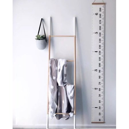 Smarit Baby Height Growth Chart Hanging Rulers Kids Room Wall Wood