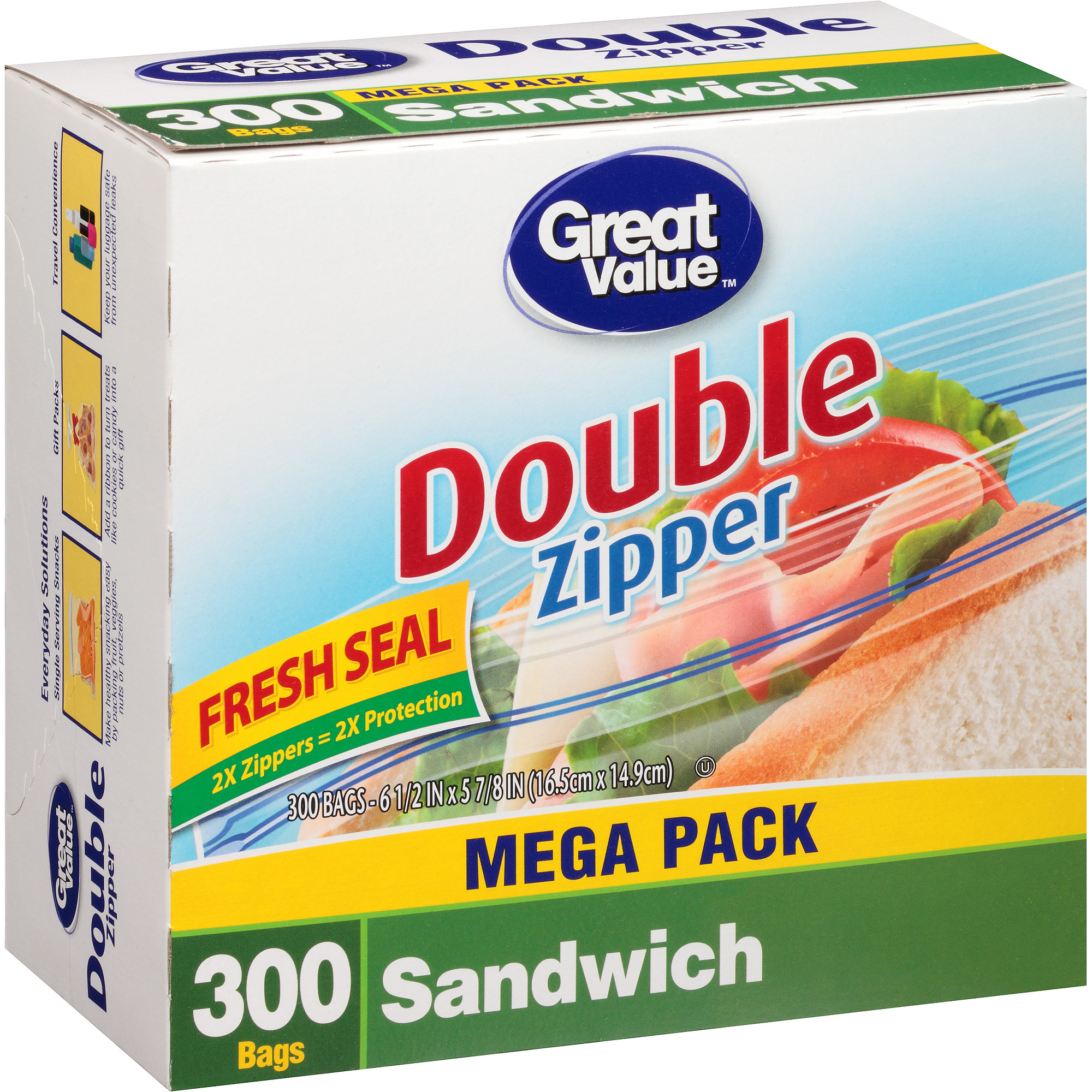 Great Value Sandwich Bags, 300 count
