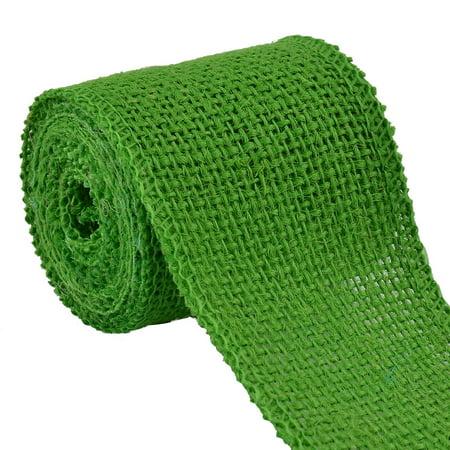 Gift Wedding Jute Belt Strap Crafting Burlap Ribbon Roll Lime Green 2.2 Yard](Lime Green Wedding)