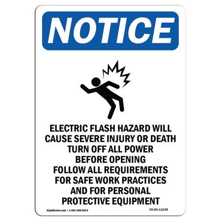 OSHA Notice Sign - Electric Flash Hazard 10