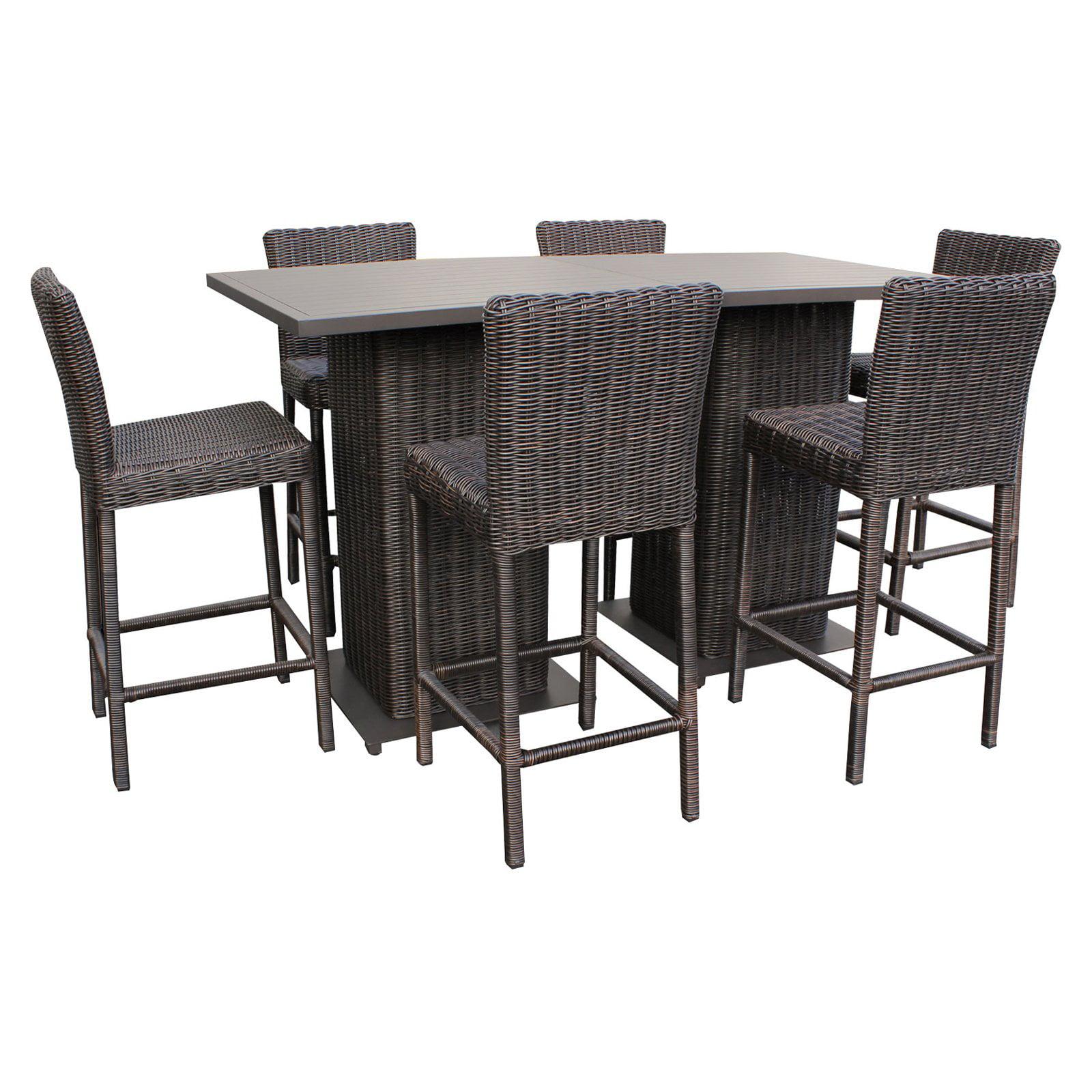 TK Classics Wicker 8 Piece Pub Table Set by TK Classics