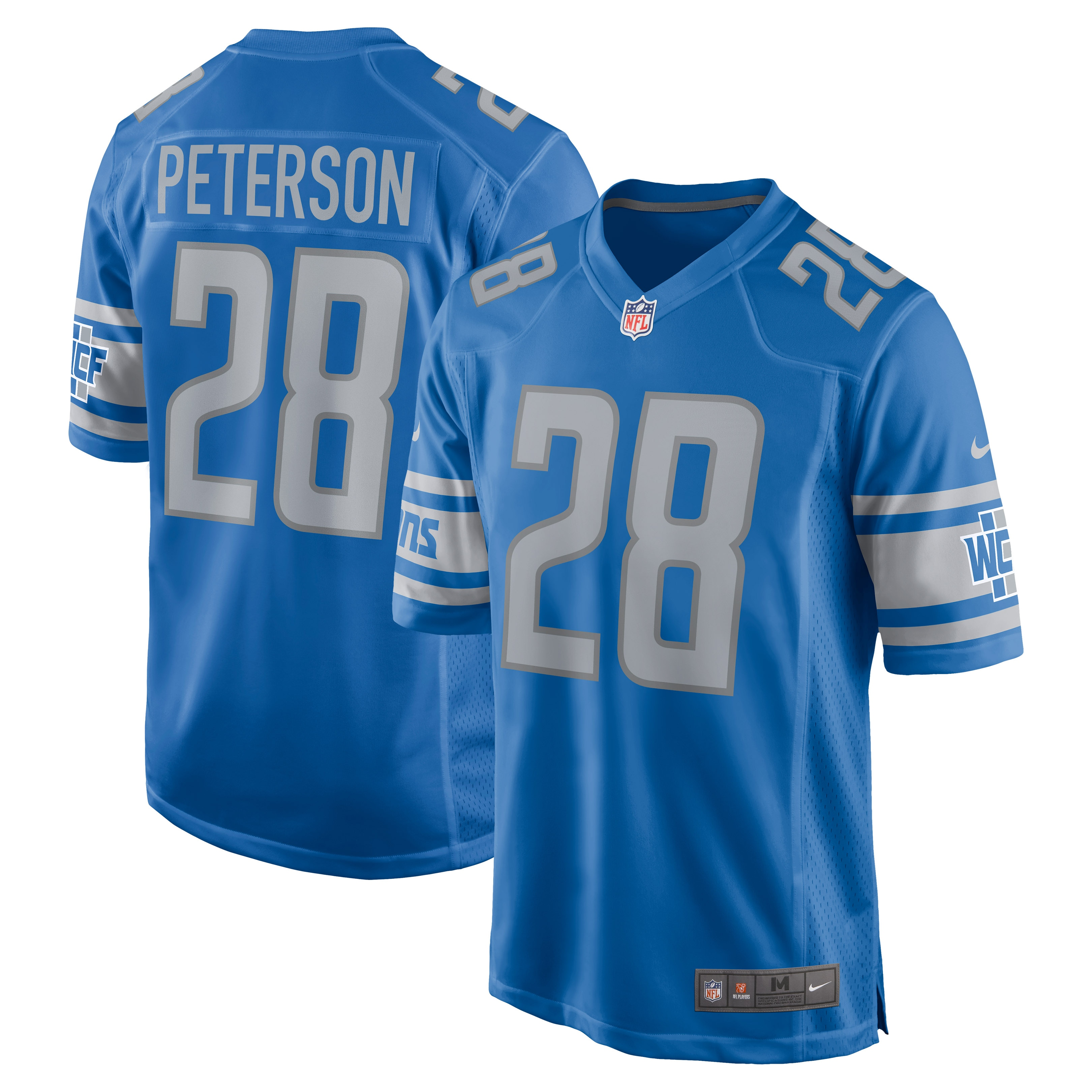 Adrian Peterson Detroit Lions Nike Game Jersey - Blue - Walmart.com