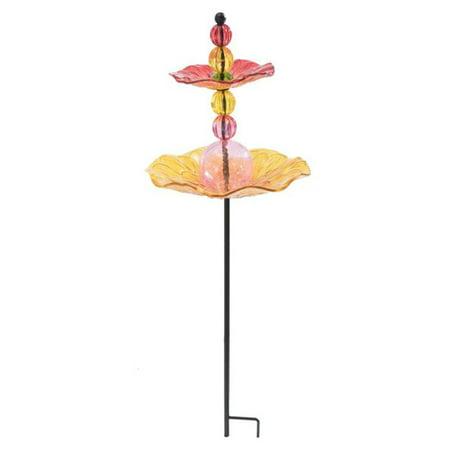 (Sunjoy 110309036 Glass Bird Feeder Garden Stake, 3200751)